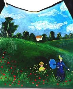 Borsa dipinta a mano – I Papaveri di Monet