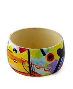 Bracciale dipinto a mano – Blu, giallo, rosso di Kandinskij