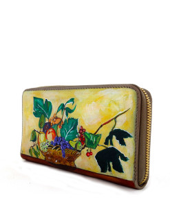 Portafoglio dipinto a mano – Canestro di frutta di Caravaggio