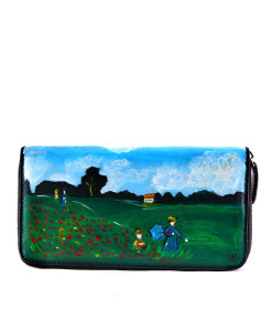 Hand painted wallet - Poppies by Monet