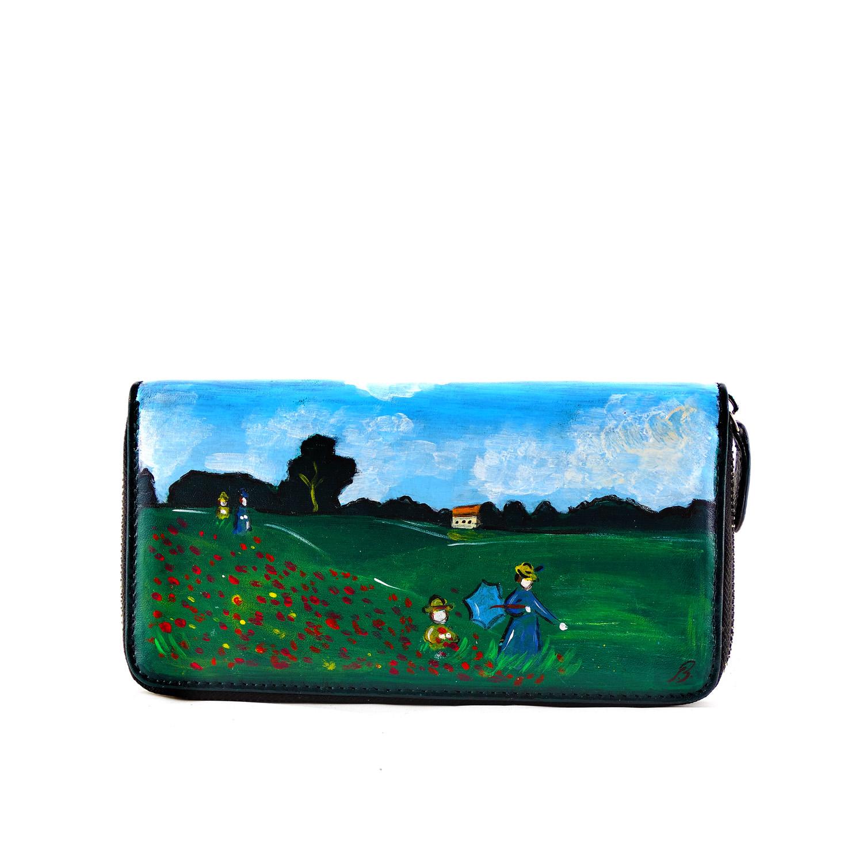 Portafoglio dipinto a mano – I papaveri di Monet