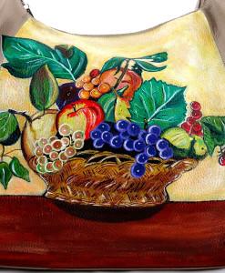 Borsa dipinta a mano – Canestro di frutta di Caravaggio