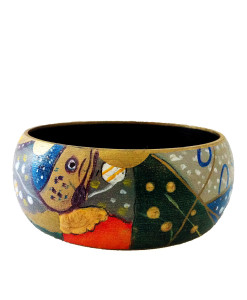 Hand-painted bangle - Water snakes by Klimt