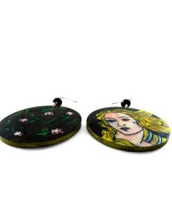 Orecchini dipinti a mano – La nascita di Venere di Botticelli