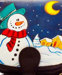 Handpainted bag - Snowman