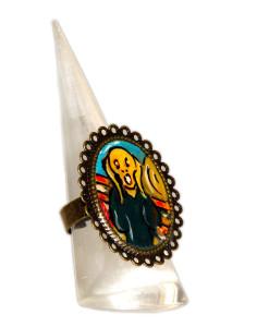 Anello dipinto a mano – L'urlo di Munch