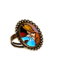 Anello dipinto a mano – Il bacio di Hayez
