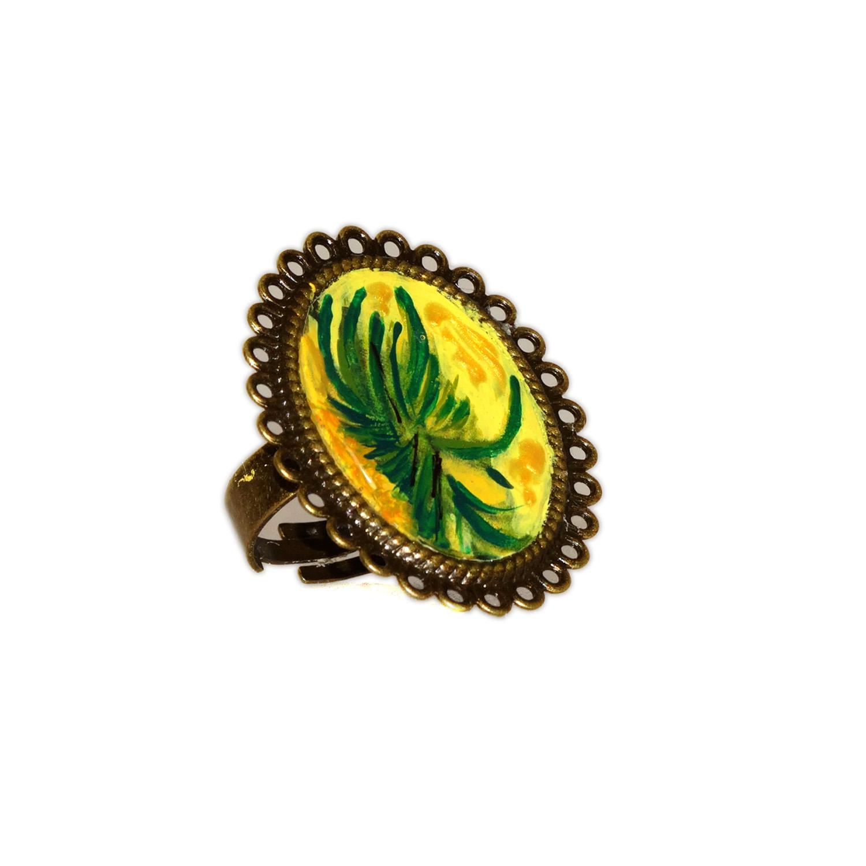 Anello dipinto a mano – I girasoli di Van Gogh
