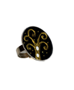 Anello dipinto a mano – L'albero della vita di Klimt