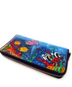 Handpainted wallet - Tropical Emotions