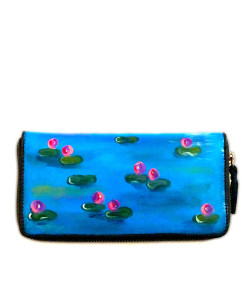 Hand painted wallet - Water lilies by Monet