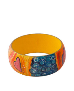 Hand-painted bracelet - Love is All