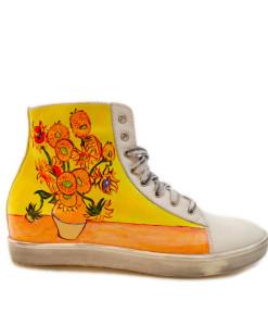 Scarpe dipinte a mano – I girasoli di Van Gogh