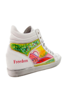 Sneakers dipinte a mano – Freedom