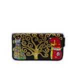 Portafoglio dipinto a mano – L'albero della vita di Klimt