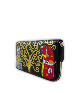 Hand painted wallet - The Tree of Life by Klimt