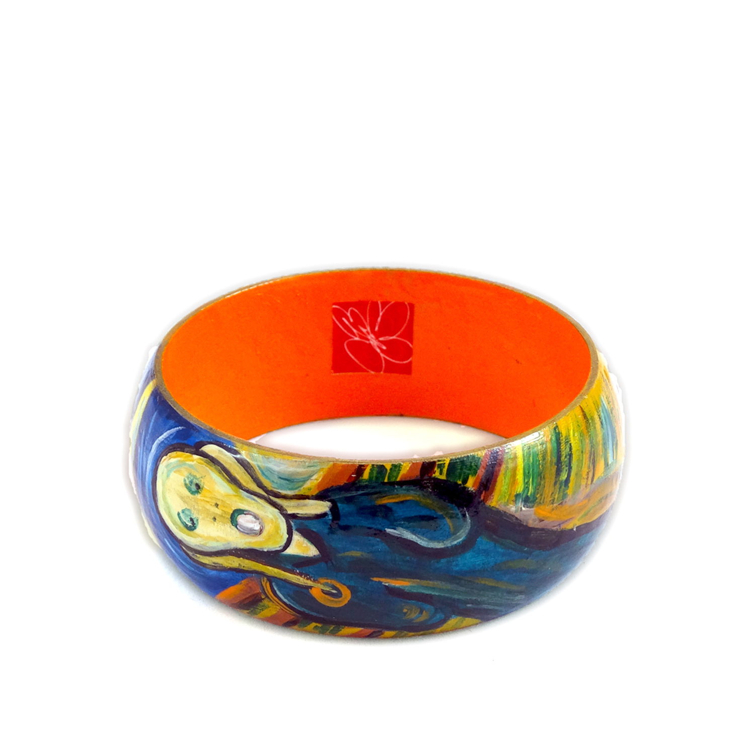 Hand-painted bangle - The Scream by Munch