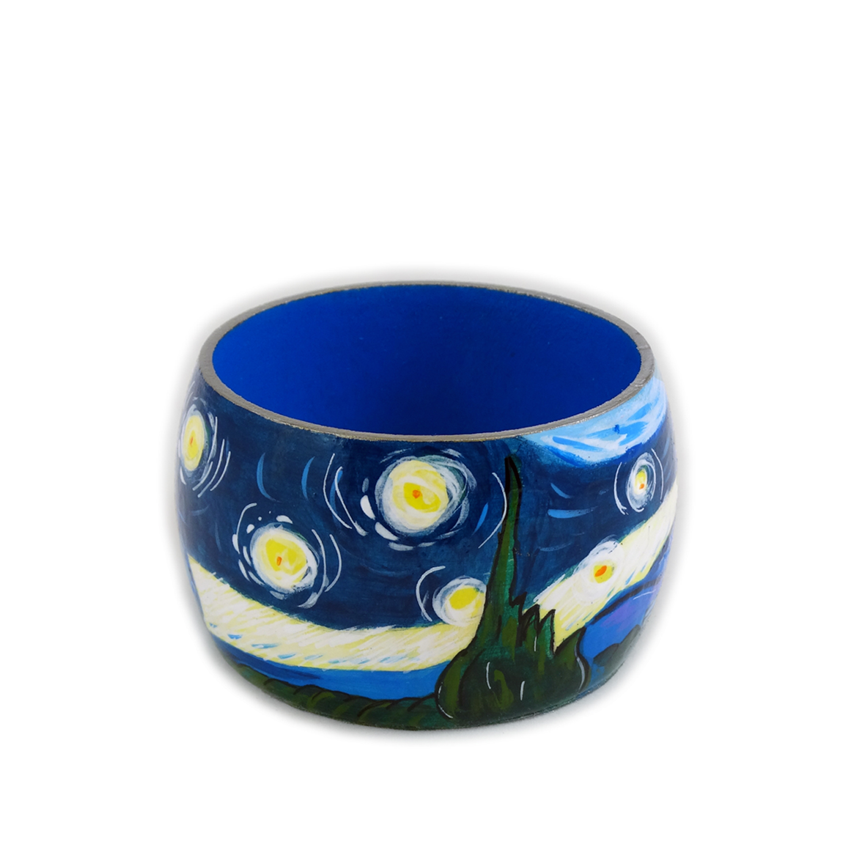Bracciale dipinto a mano notte stellata di van gogh for Dipinto di van gogh notte stellata