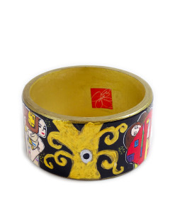 Hand-painted bracelet - The Tree of Life by Klimt