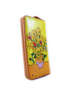 Hand painted wallet - Sunflowers by Van Gogh