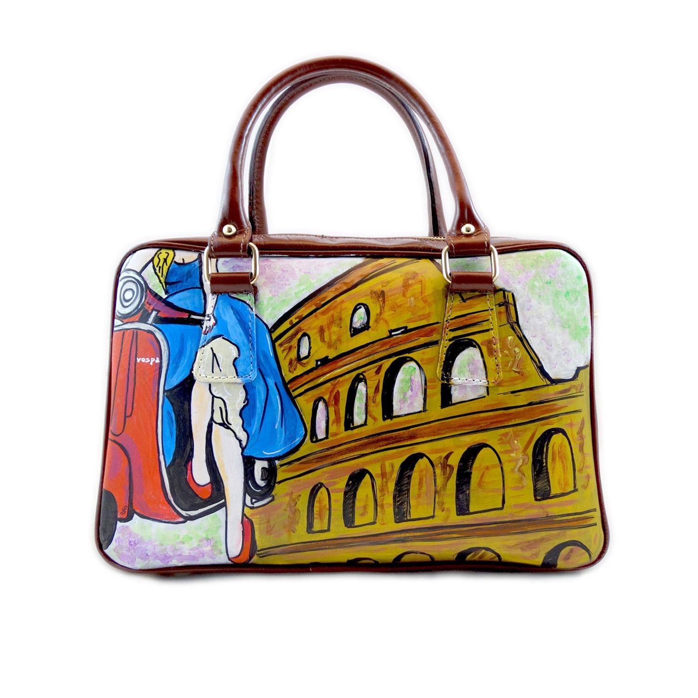 Borsa dipinta a mano – Vacanze romane