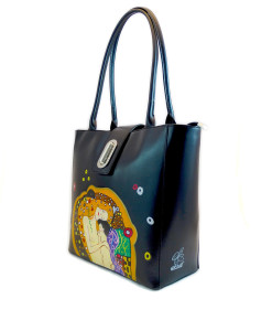 Hand painted bag - Mother and child by Klimt