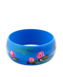 Hand-painted bangle - Water lilies by Monet