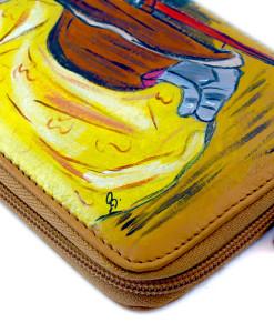 Portafoglio dipinto a mano – Lancillotto e Ginevra di Harrison