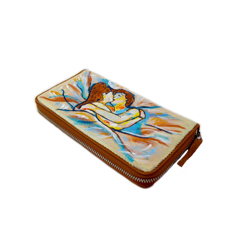 Portafoglio dipinto a mano – Lovers di Lautrec