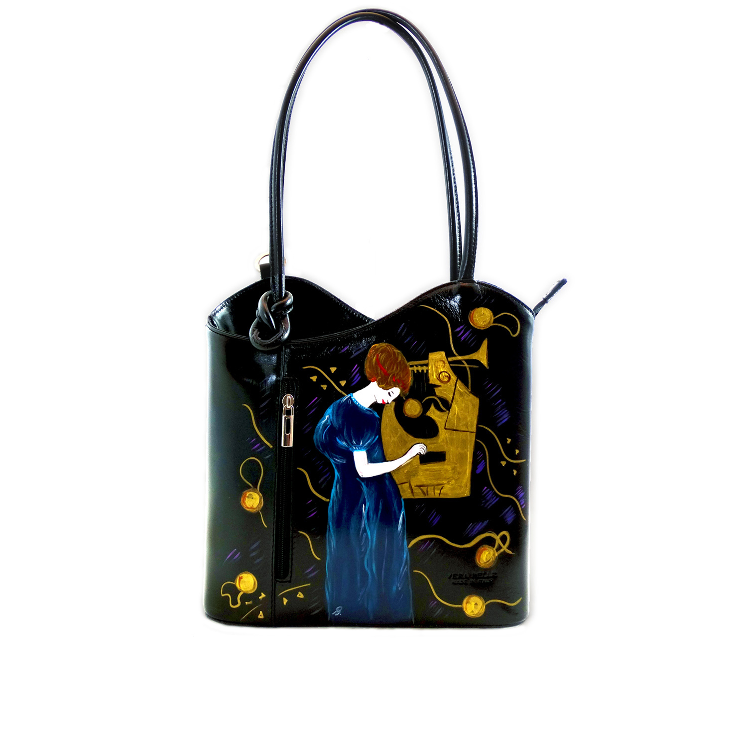 Hand painted bag - The Music by Klimt