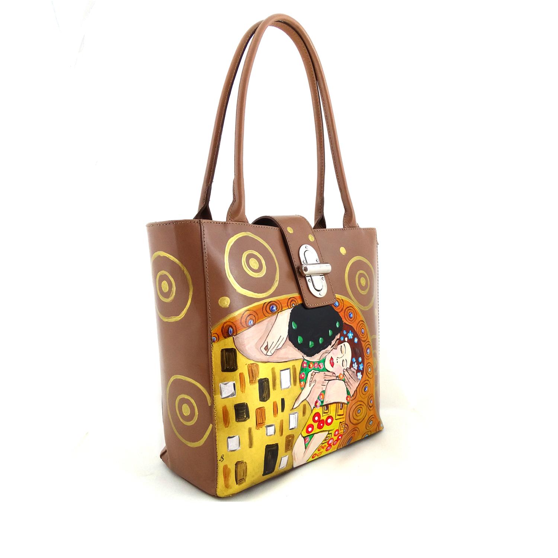 Borsa dipinta a mano – Il bacio di Klimt 2