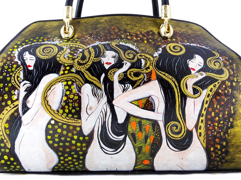 Borsa dipinta a mano – Le forze ostili di Klimt