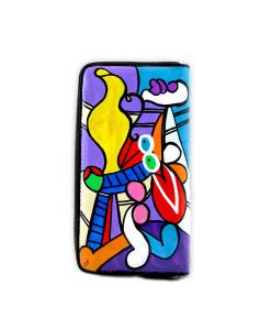 Portafoglio dipinto a mano – Nudo con natura morta di Picasso