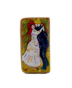 Portafoglio dipinto a mano – Ballo a Bougival di Renoir