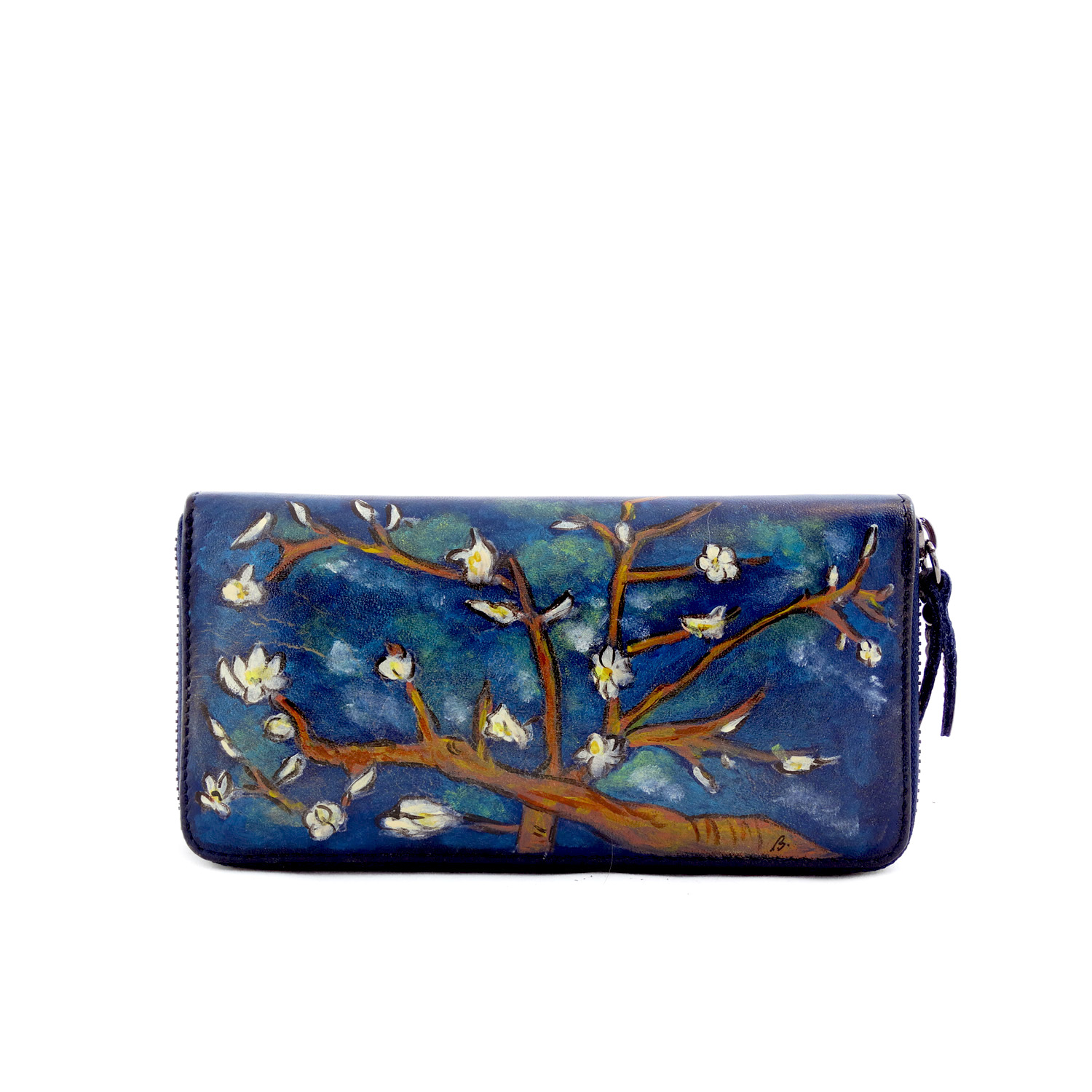 Hand painted wallet - The Almond by Van Gogh