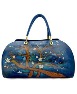 Borsa dipinta a mano – Il mandorlo di Van Gogh