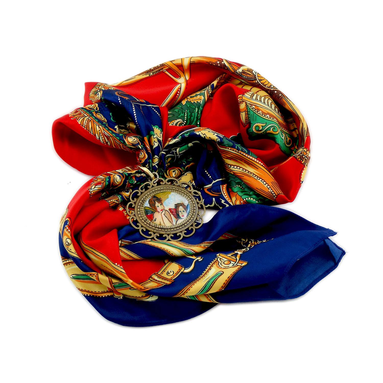 Foulard gioiello dipinto a mano – Putti di Raffaello Sanzio