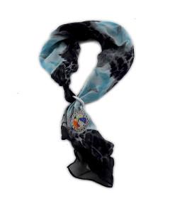 Foulard gioiello dipinto a mano - Serpenti d'acqua di Klimt