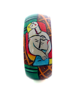 Hand-painted bangle - The dream by Picasso