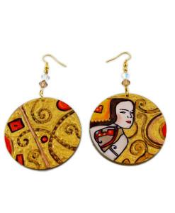 Orecchini dipinti a mano – L'attesa (Expectation) di Klimt
