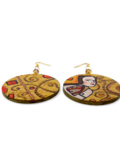 Hand-painted Earrings - The wait (Expectation) by Klimt