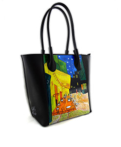 Hand painted bag - The Night Café by Van Gogh