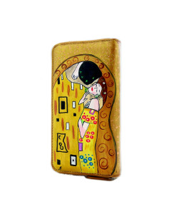 Hand painted wallet - The Kiss by Klimt
