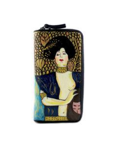 Portafoglio dipinto a mano – Giuditta di Klimt