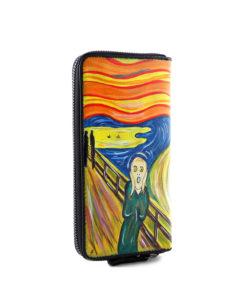 Portafoglio dipinto a mano – L' Urlo di Munch
