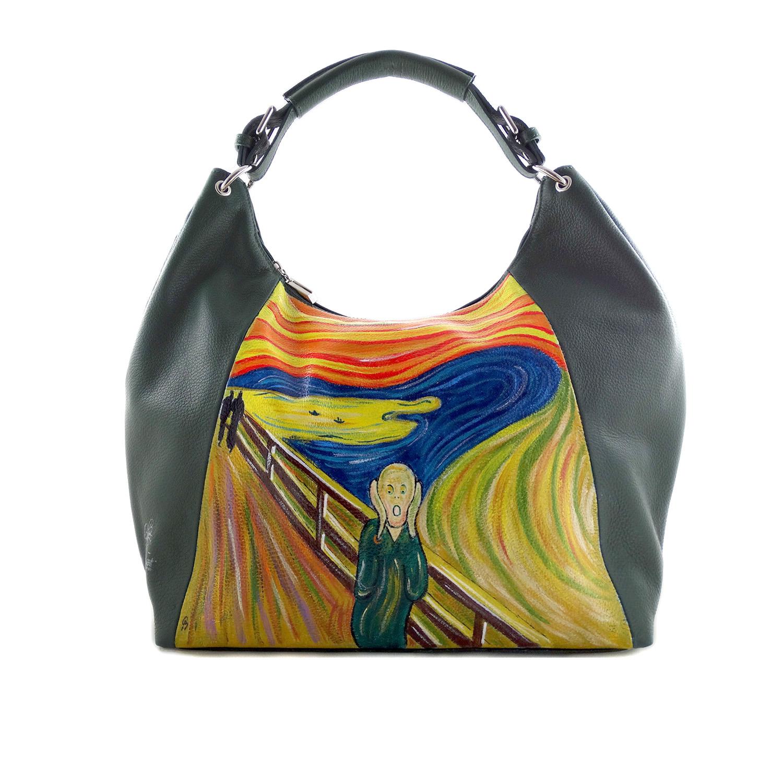 Borsa dipinta a mano – L'urlo di Munch