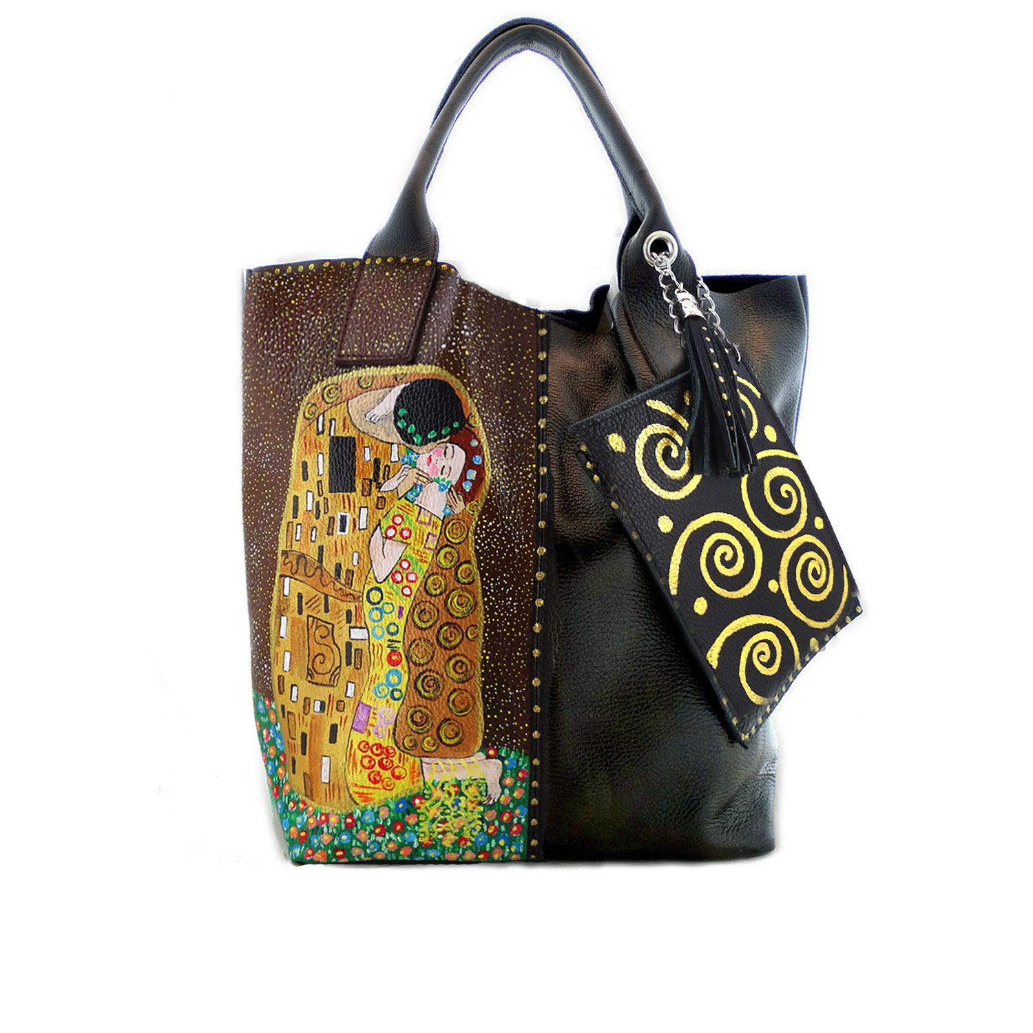 Handpainted bag - The Kiss by Klimt