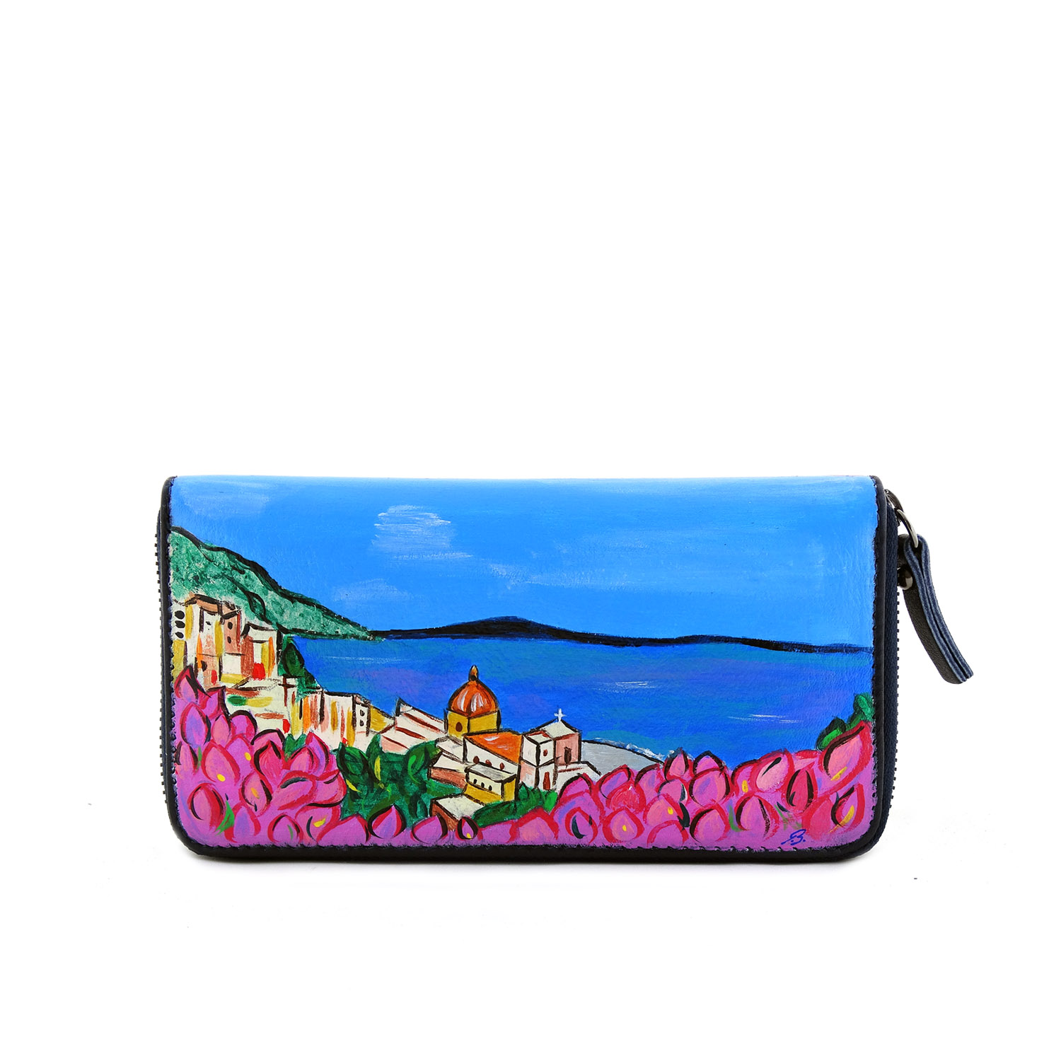 Hand painted wallet - Amalfi