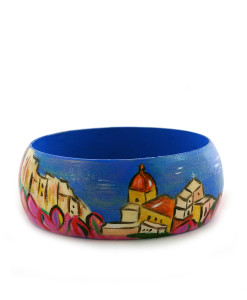 Hand-painted bangle - Amalfi
