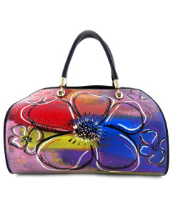 Hand painted bag - Big flowers